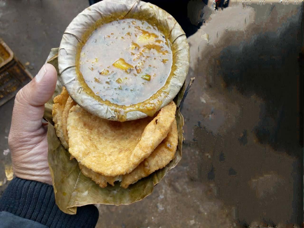 Pori sabzi in Varanasi