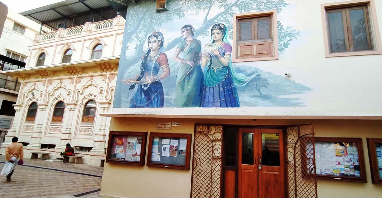 Paintings in ISKON Vrindavan