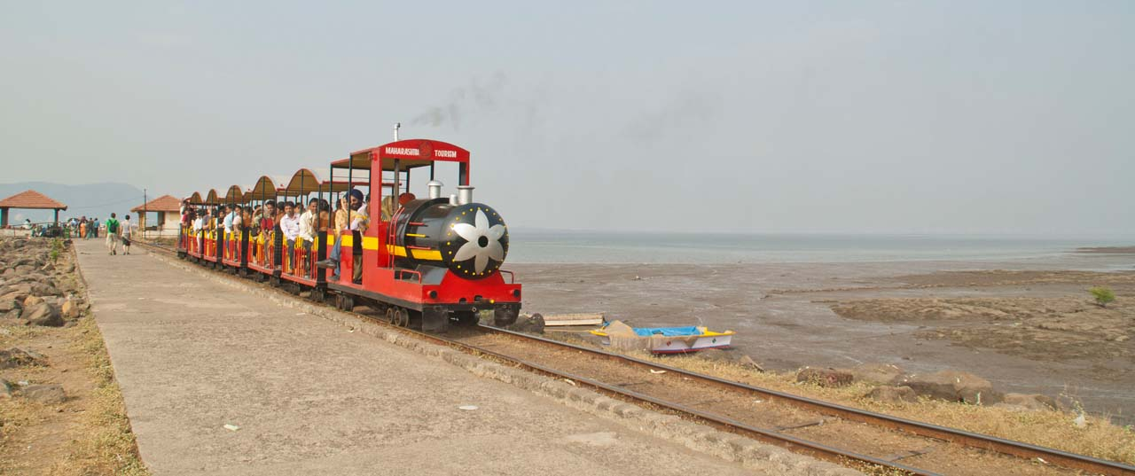 Lazy train at Elephanta island