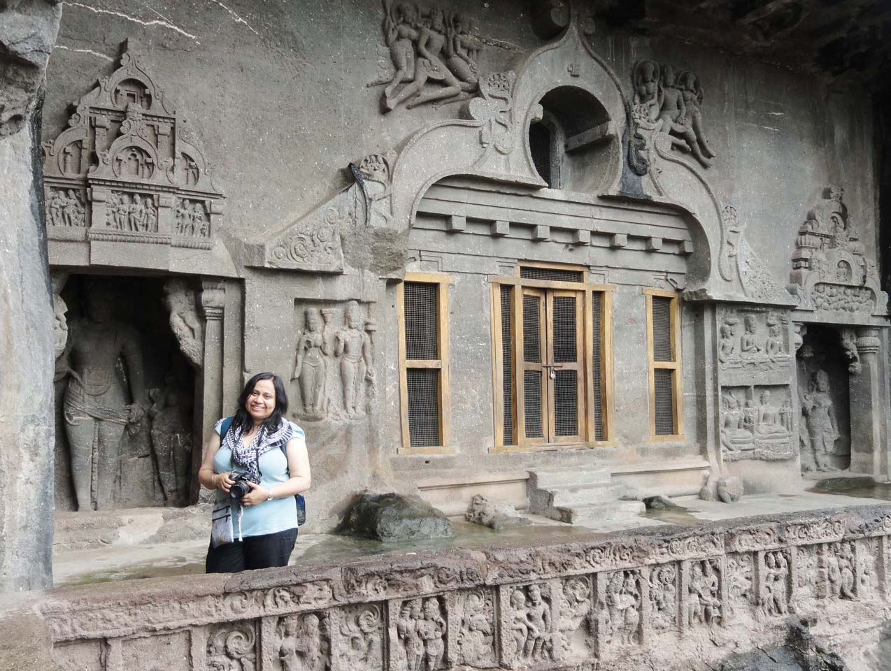 Me at Ellora caves