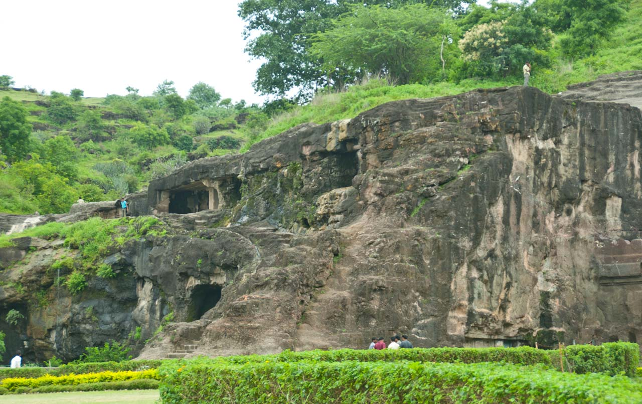 Open area of Ellora caves