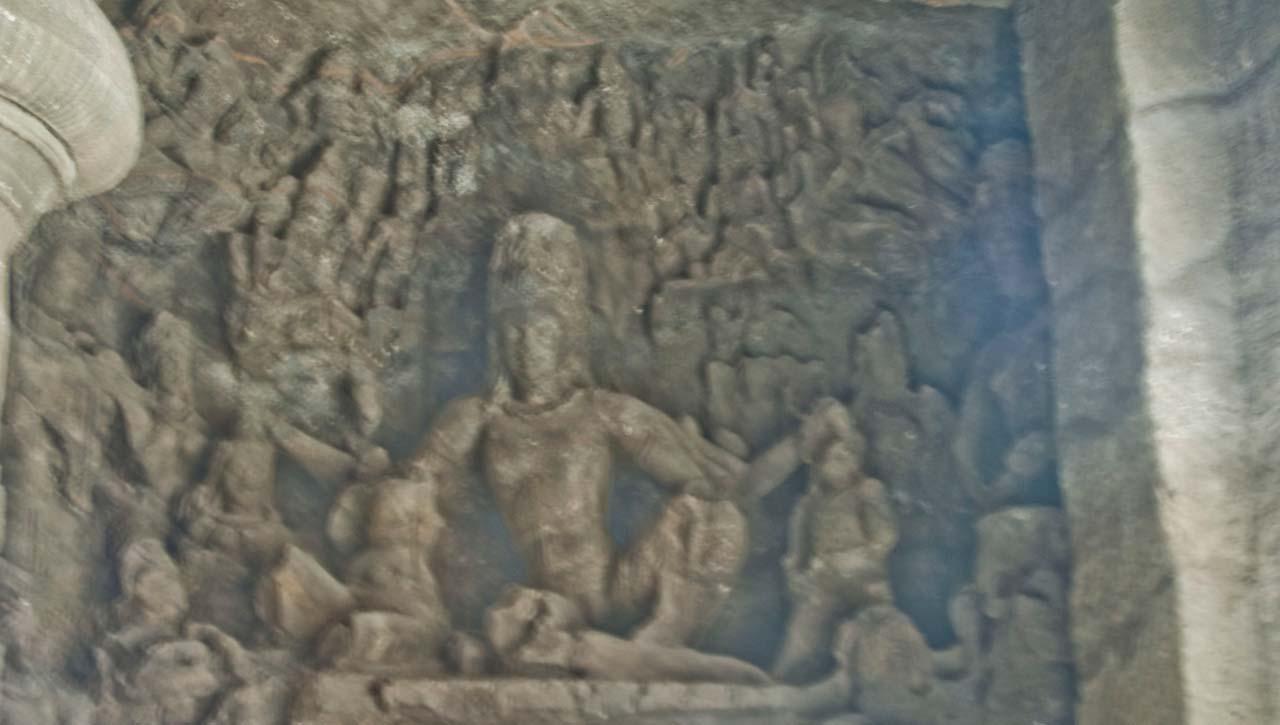 Ravananugrah-Murti in cave 1