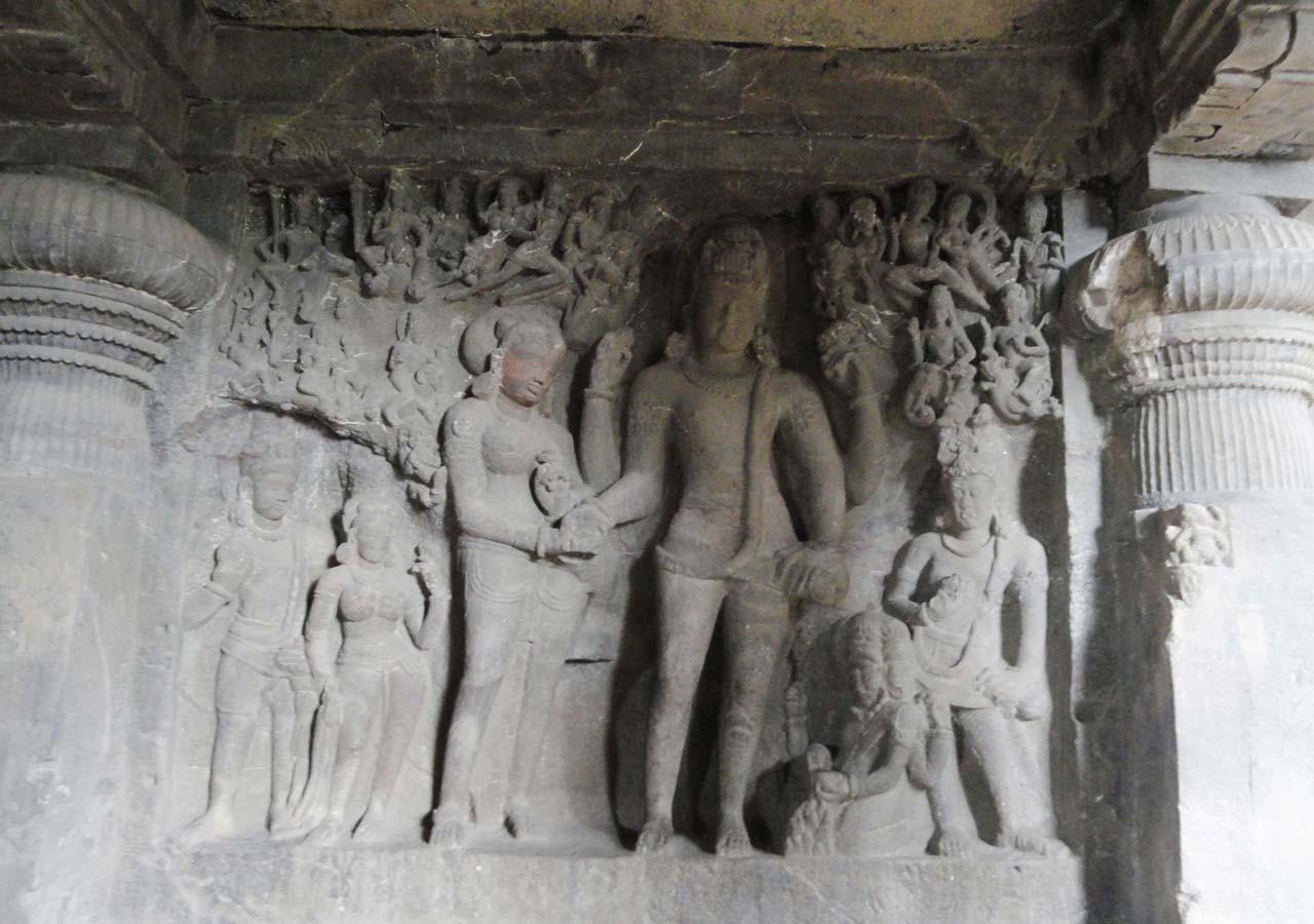 Sculpture ellora cave
