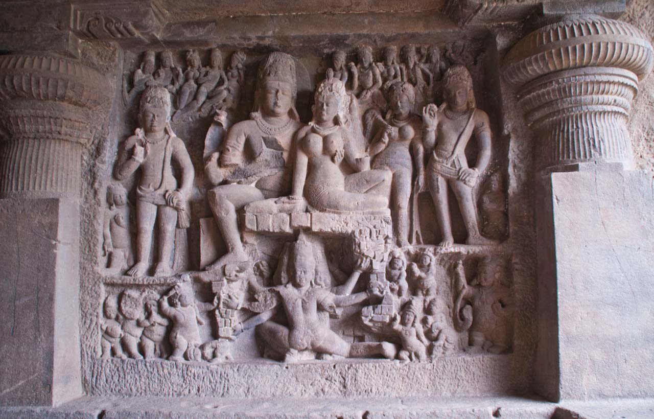 Sculptures in Ellora caves